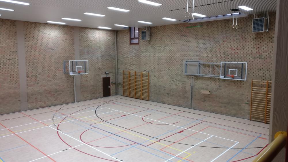 Vernieuwde sporthal