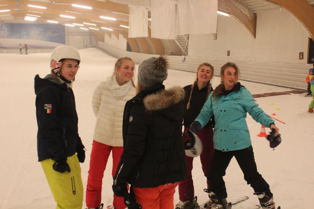 Skiën - Zuid-Afrika uitwisselingsproject