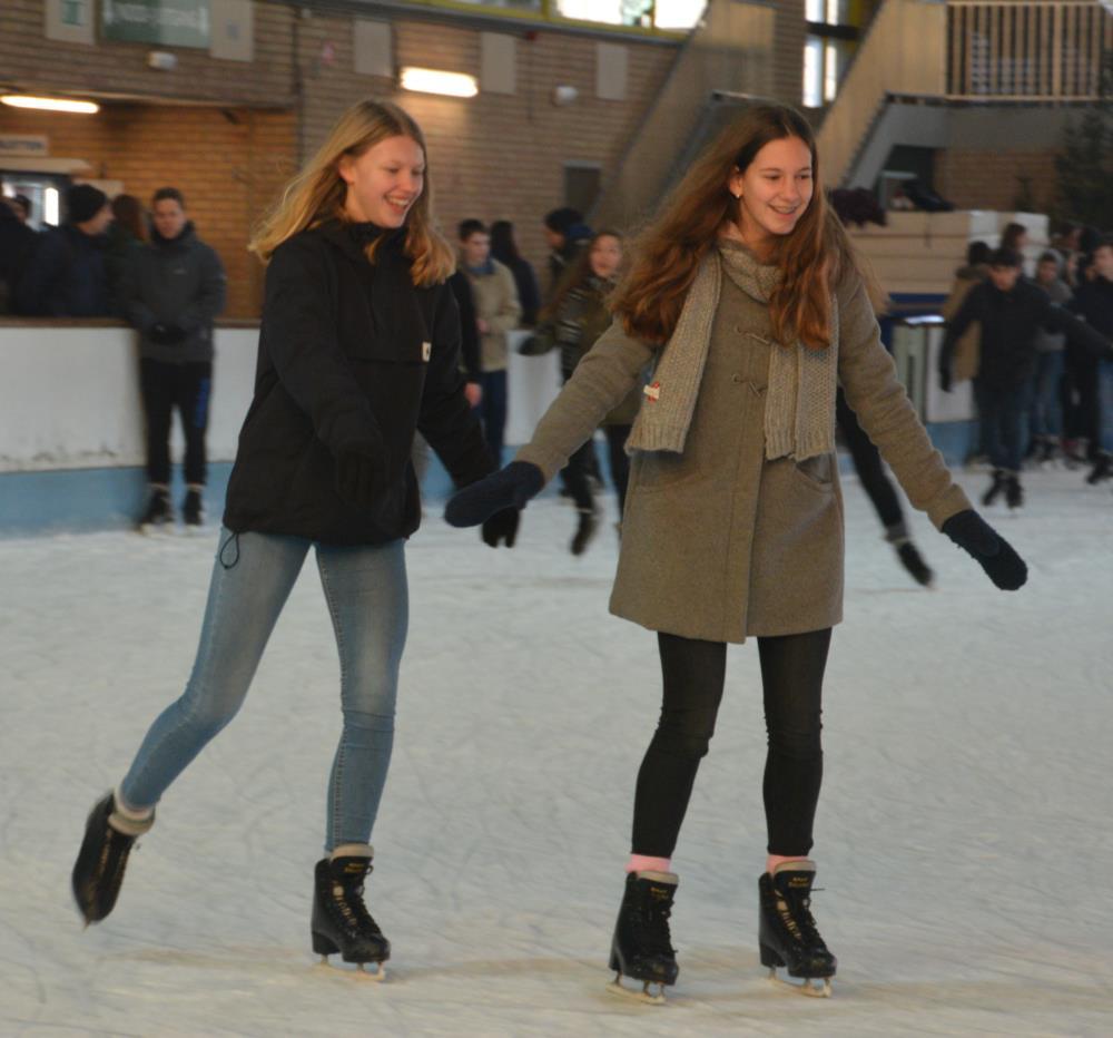 Vierdes gaan schaatsen