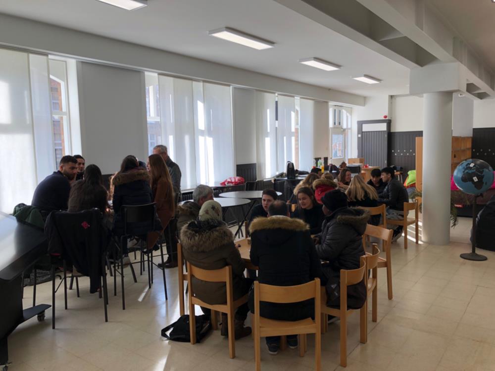 Ontmoeting met twintigtal leerlingen van Open School
