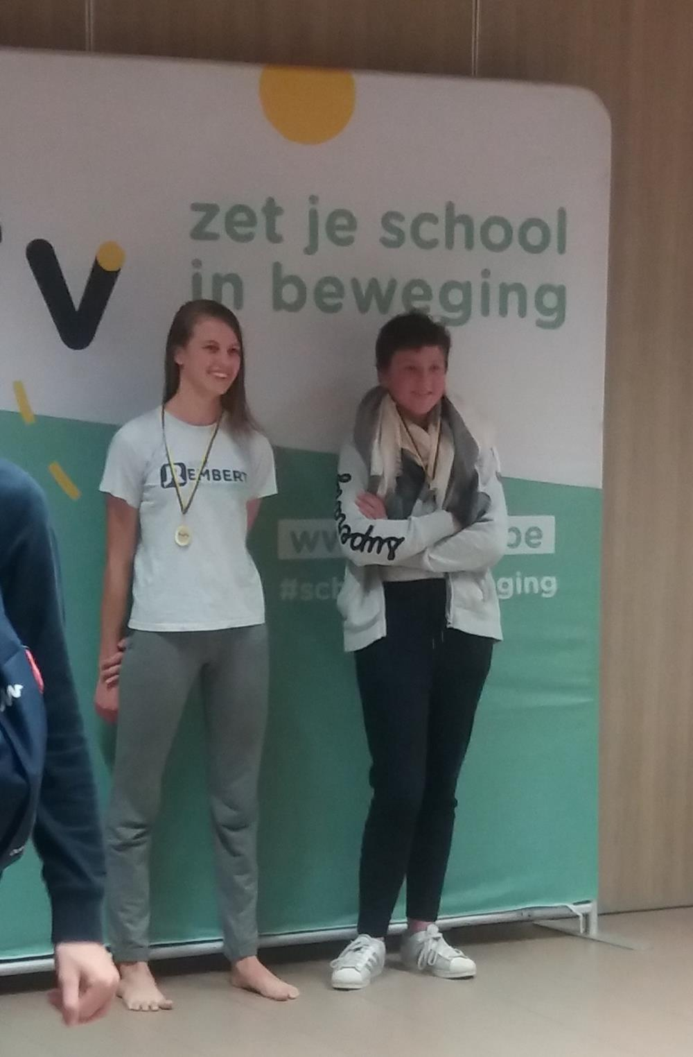 Sien wint zilver op het Vlaams kampioenschap zwemmen