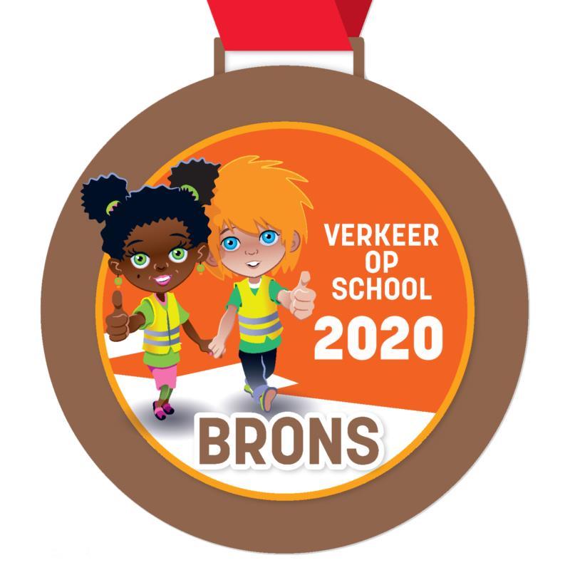 Digitale schoolpoortmedaille brons