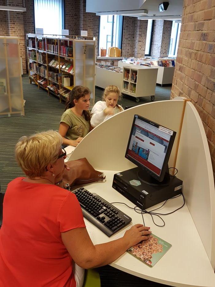 Bibliotheekbezoek eerstes